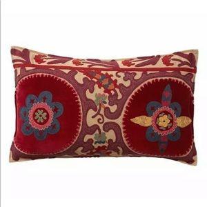 Pottery Barn velvet appliqué pillow cover